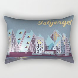 Isbjerget - The Iceberg Denmark Travel Poster Rectangular Pillow
