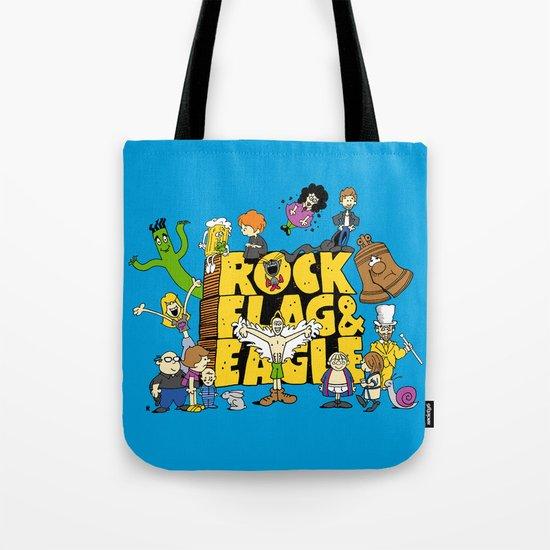 Rock, Flag & Eagle Tote Bag