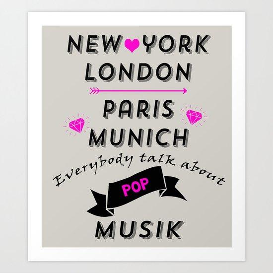 Pop Musik  Art Print