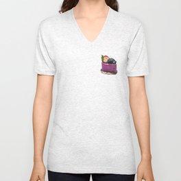 Blueberry Mousse Unisex V-Neck