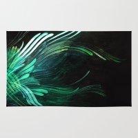 malachite Area & Throw Rugs featuring Malachite by Lea Gray Design