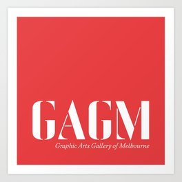 graphic arts gallery of melbourne (GAGM) ID print  Art Print