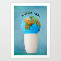 world cup Art Prints featuring World cup by Anne Seltmann