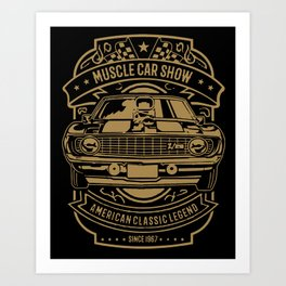 muscle car show american classic legend Art Print