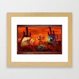 """Land Escape"" Framed Art Print"