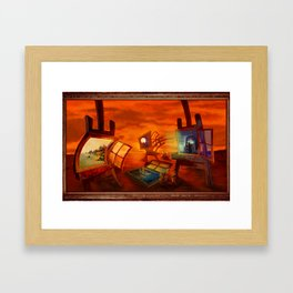 """Land Escape"" Framed Art Print"