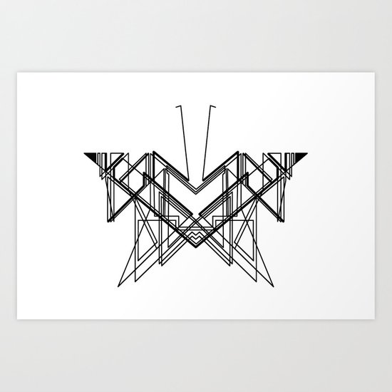Butterfly without back Art Print