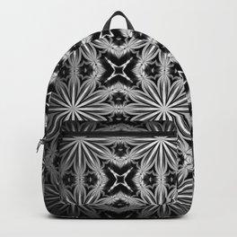 Black Slate Gray Pattern Backpack