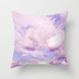 Pink Clouds In The Blue Sky #decor #society6 #buyart Throw Pillow