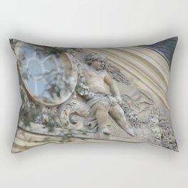 Baroque angel on Parisian mansion facade Rectangular Pillow