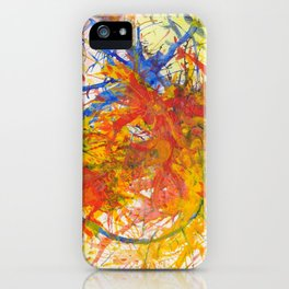 Branches Aflame with Flower iPhone Case