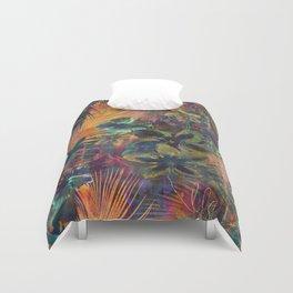 Haleiwa Tropical Orange Duvet Cover