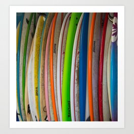 Surfboards For Rent Art Print