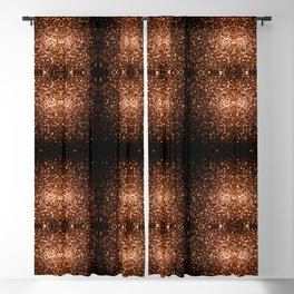 Beautiful Bronze Orange Brown glitters sparkles Blackout Curtain
