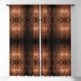 Beautiful Bronze Orange Brown glitters sparkles Blackout Curtain