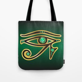 Eye of Ra Emerald Tote Bag