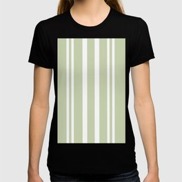 Plain Seafoam Green and White Stripes Design T-shirt