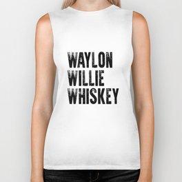 Waylon Jennings Willie Nelson Tennessee whiskey cowboy outlaw biker tee biker motorcycle Biker Tank