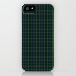 Green and Blue Plaid iPhone Case