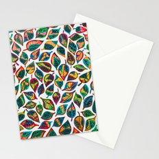 Multicolor Leaf Pattern 2 Stationery Cards