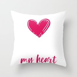 Valentine   With All My Heart Throw Pillow