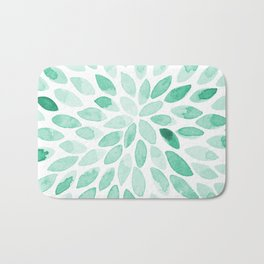 Watercolor brush strokes - aqua Bath Mat