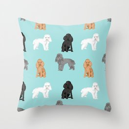 Toy Poodles mixed coat colors dog breed gifts pet portraits must haves poodles Throw Pillow