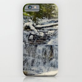Wagner Falls Painterly iPhone Case