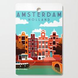 Vintage Amsterdam Holland Travel Cutting Board