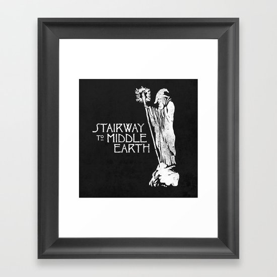 stairway to middle-earth Framed Art Print