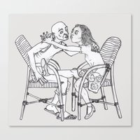 couple Canvas Prints featuring couple by Madmi