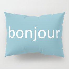 words: bonjour Pillow Sham