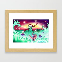 Coming home for Christmas Framed Art Print