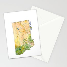 Montana Painted Map Stationery Cards