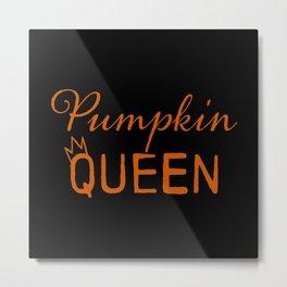 Pumpkin Queen Metal Print
