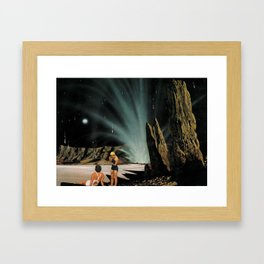 Volcano Beach Framed Art Print