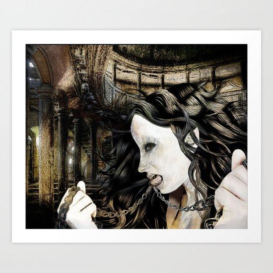 HOLD YOUR TONGUE NO BORDER Art Print