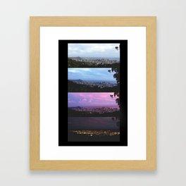 New York Skyline Portrait Time Frames Framed Art Print