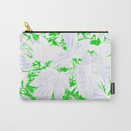 GERANIUM LEAVES WHITE Carry-All Pouch