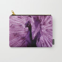 Purple Peacock Carry-All Pouch