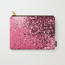 Light Red Sparkling Glitter Dream #1 #shiny #decor #art #society6 Carry-All Pouch