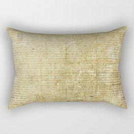 Original United States Declaration of Independence Matlack Version (1776) Rectangular Pillow
