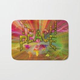 Teach Peace Bath Mat