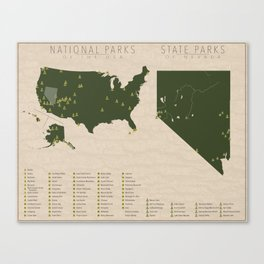 US National Parks - Nevada Canvas Print