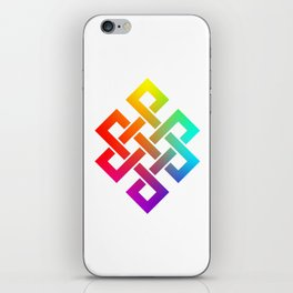 Eternity knot in rainbow colors iPhone Skin