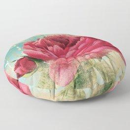 Vintage Flowers #16 Floor Pillow