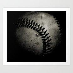Baseball Dark Art Print