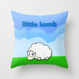 Little lamb Throw Pillow