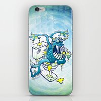 toilet iPhone & iPod Skins featuring Toilet Monster by Zoo&co on Society6 Products