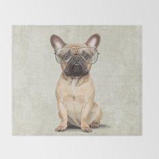 Mr French Bulldog Throw Blanket